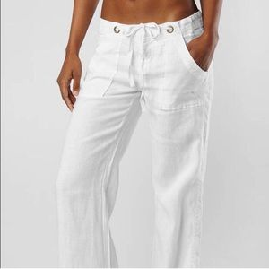 Joie | white wide leg linen pants size 6